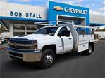 2018 Silverado 3500 Regular Cab DRW 4x2,  Harbor Standard Contractor Body #183192 - photo 1