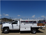2018 Silverado 3500 Regular Cab DRW 4x2,  Harbor Standard Contractor Body #183192 - photo 3