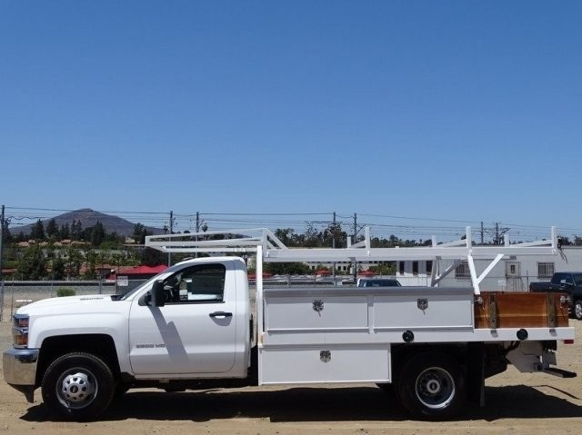 2018 Silverado 3500 Regular Cab DRW 4x2,  Harbor Standard Contractor Body #183203 - photo 3