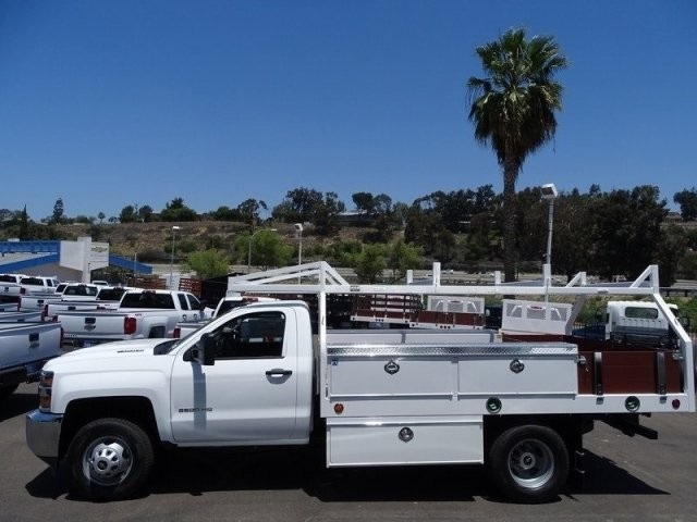 2018 Silverado 3500 Regular Cab DRW 4x2,  Harbor Contractor Body #183216 - photo 3