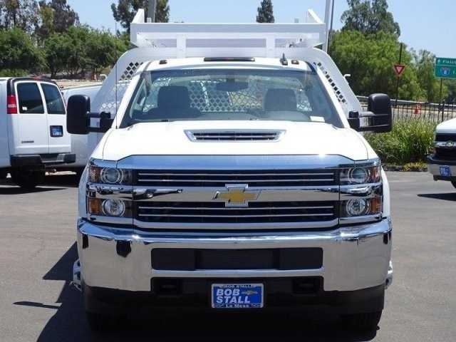 2018 Silverado 3500 Regular Cab DRW 4x2,  Harbor Contractor Body #183216 - photo 5