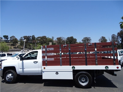 2018 Silverado 3500 Regular Cab DRW 4x2,  Royal Stake Bed #183218 - photo 2