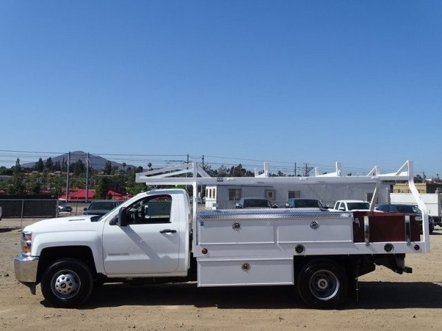 2018 Silverado 3500 Regular Cab DRW 4x2,  Royal Contractor Body #183246 - photo 3