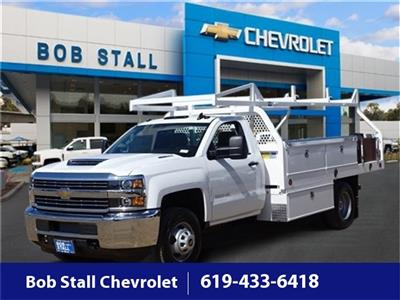 2018 Silverado 3500 Regular Cab DRW 4x2,  Royal Contractor Body #183246 - photo 1