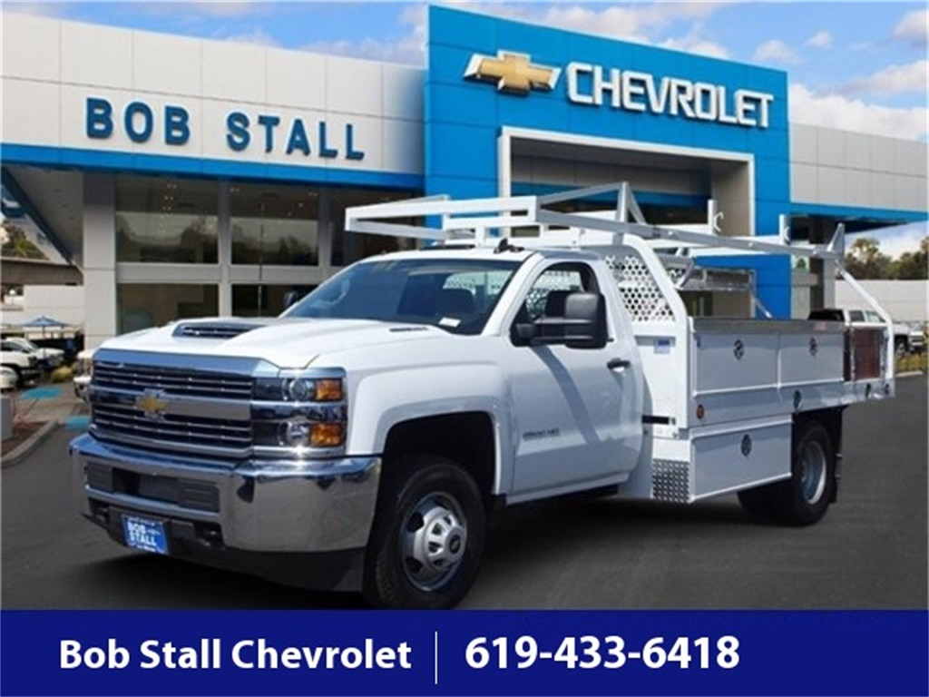 2018 Silverado 3500 Regular Cab DRW 4x2,  Royal Contractor Body #183296 - photo 1