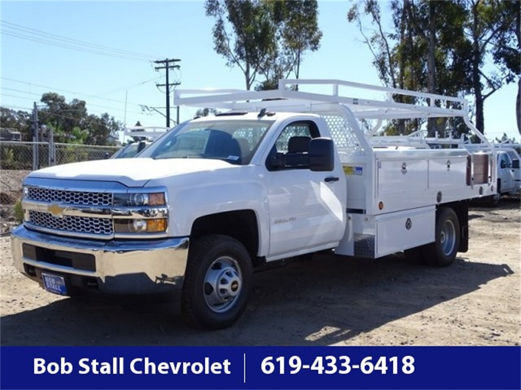 2019 Silverado 3500 Regular Cab DRW 4x2,  Royal Contractor Body #193022 - photo 1