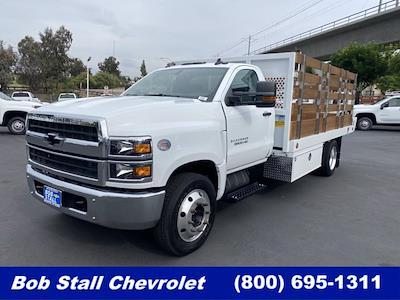 2021 Silverado Medium Duty Regular Cab DRW 4x2,  Royal Truck Body Platform Body Stake Bed #213344 - photo 1