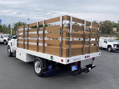 2021 Silverado Medium Duty Regular Cab DRW 4x2,  Royal Truck Body Platform Body Stake Bed #213344 - photo 2