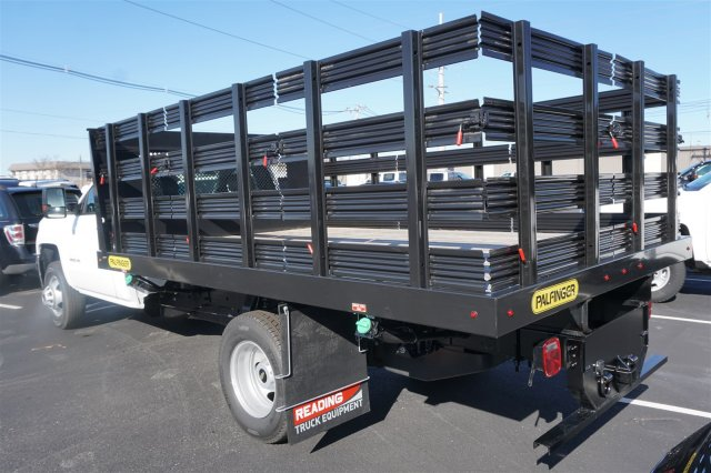 2018 Silverado 3500 Regular Cab DRW 4x2,  Palfinger Stake Bed #18-0630 - photo 5
