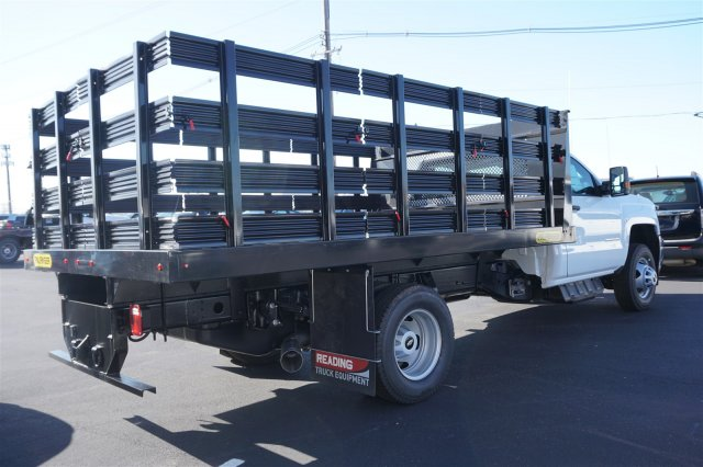 2018 Silverado 3500 Regular Cab DRW 4x2,  Palfinger Stake Bed #18-0630 - photo 2