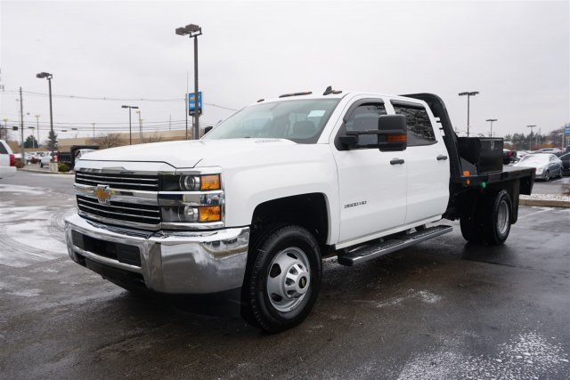 2015 Silverado 3500 Crew Cab DRW 4x4,  Platform Body #18-1201A - photo 4