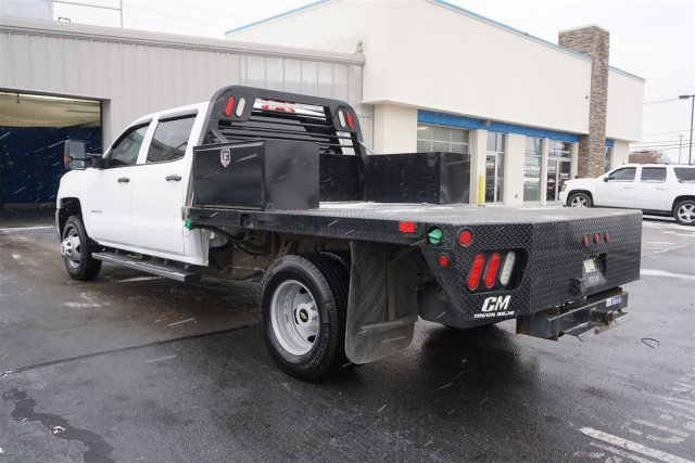 2015 Silverado 3500 Crew Cab DRW 4x4,  Platform Body #18-1201A - photo 5
