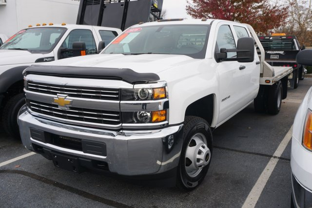 2016 Silverado 3500 Crew Cab DRW 4x4,  Platform Body #18-1437A - photo 3
