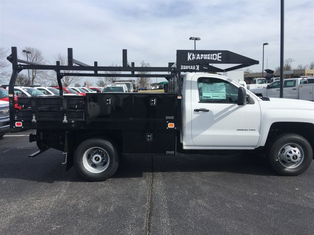 2019 Silverado 3500 Regular Cab DRW 4x4, Knapheide Contractor Body #19-3804 - photo 8