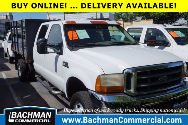 2000 Ford F-350 Crew Cab DRW 4x4, Stake Bed #19-4921A - photo 1
