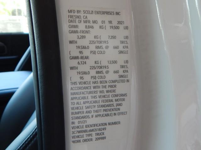 2021 Ram 5500 Regular Cab DRW 4x4, Scelzi 12ft Combo Body #21D059 - photo 30