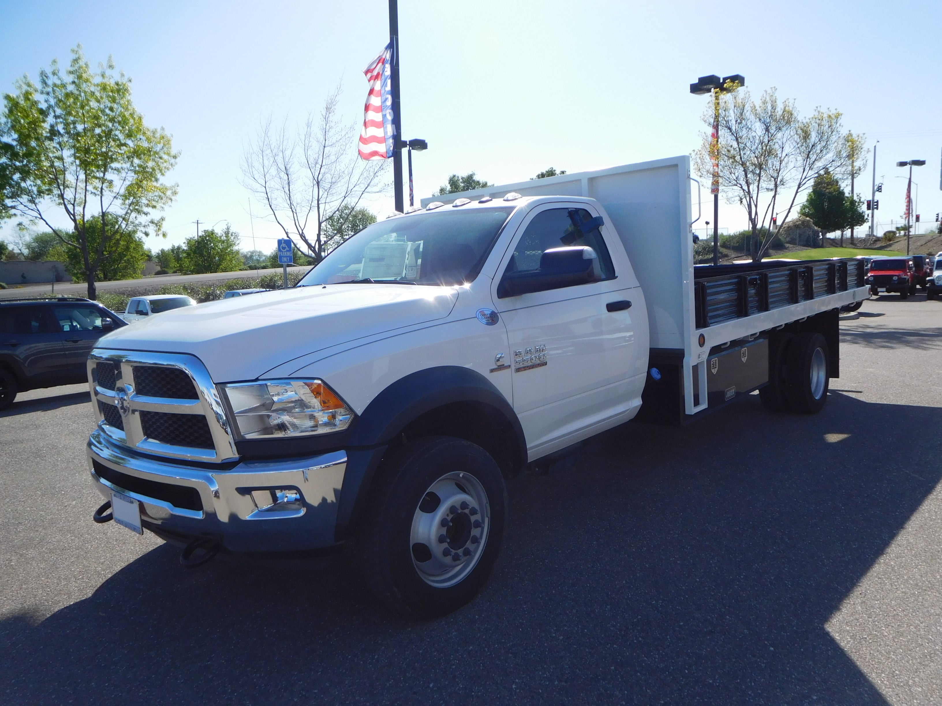 2016 Ram 5500 Regular Cab DRW 4x4,  Enoven Truck Body & Equipment Platform Body #13702 - photo 5