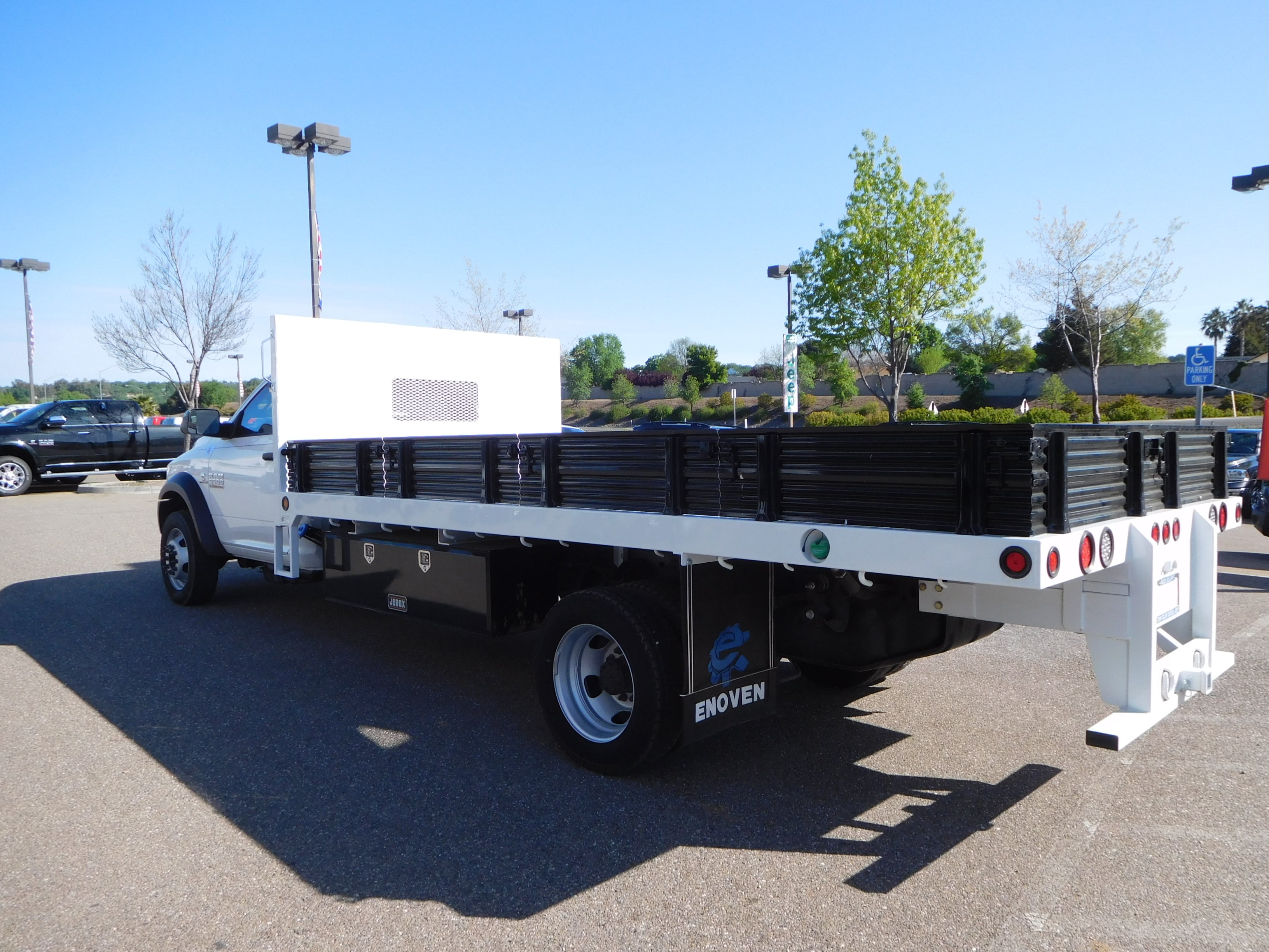 2016 Ram 5500 Regular Cab DRW 4x4,  Enoven Truck Body & Equipment Platform Body #13702 - photo 7