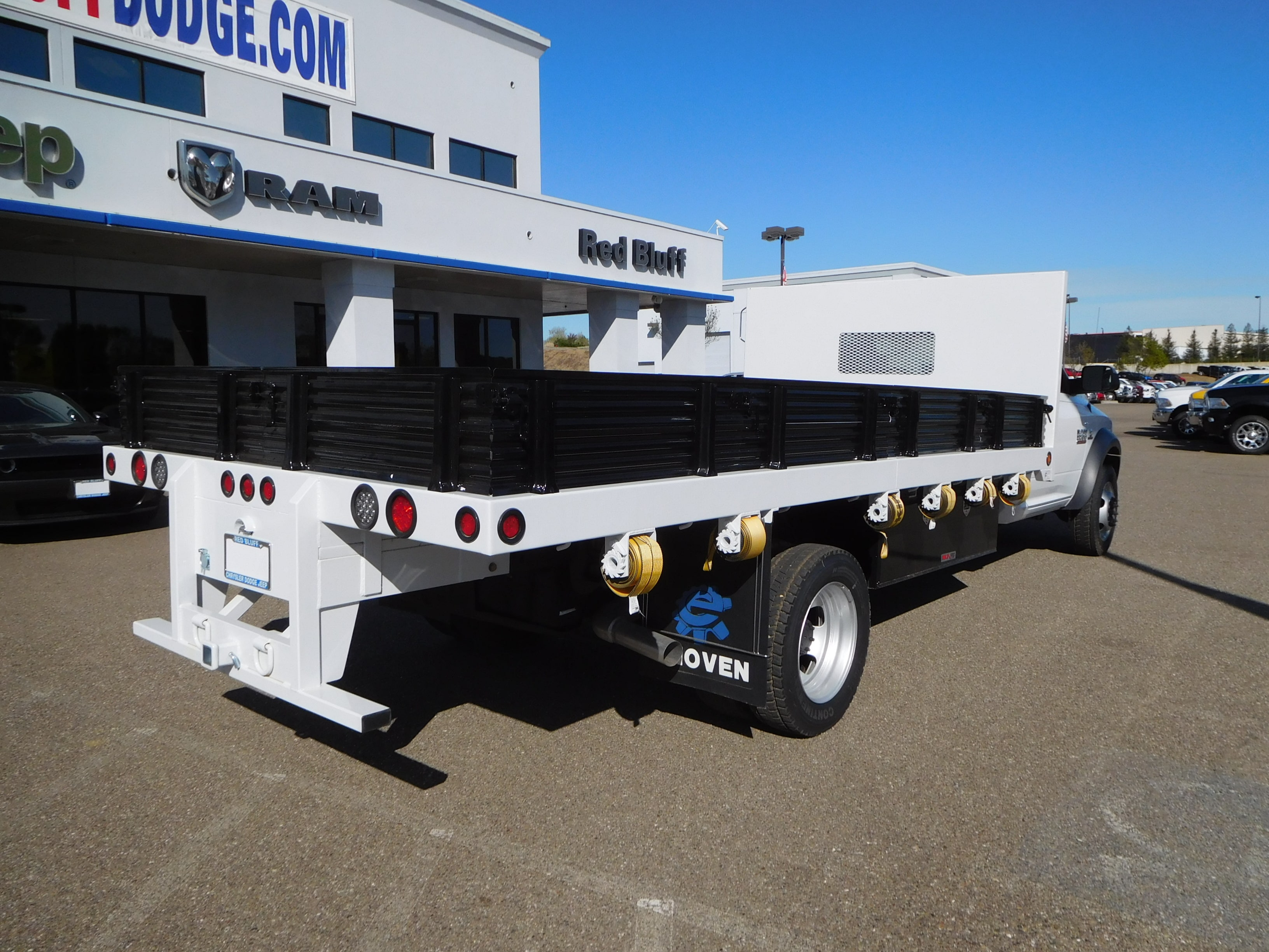 2016 Ram 5500 Regular Cab DRW 4x4,  Enoven Truck Body & Equipment Platform Body #13702 - photo 2