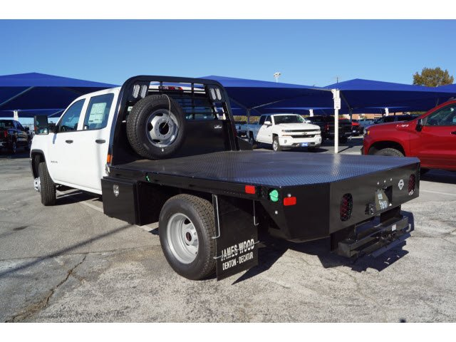 2019 Sierra 3500 Crew Cab DRW 4x2,  CM Truck Beds Platform Body #190810 - photo 2