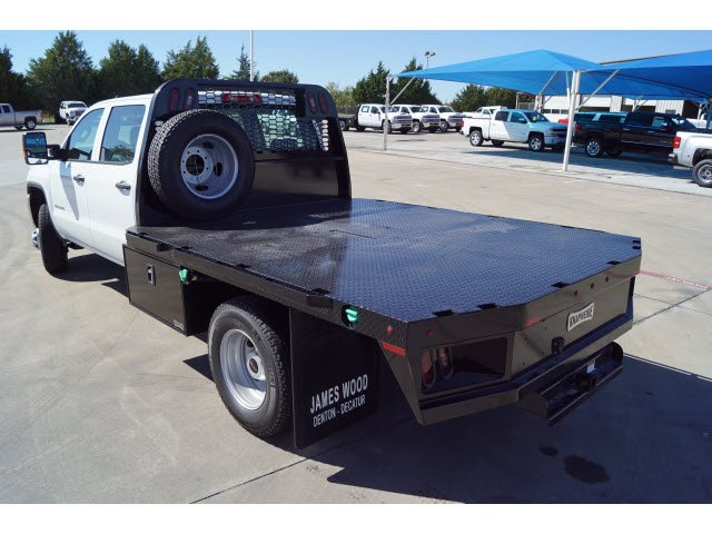 2018 Sierra 3500 Crew Cab DRW 4x4,  Knapheide Platform Body #280701 - photo 3