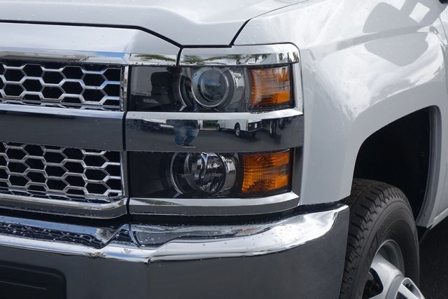 2019 Silverado 3500 Regular Cab DRW 4x2,  Harbor Black Boss Stake Bed #190619 - photo 4