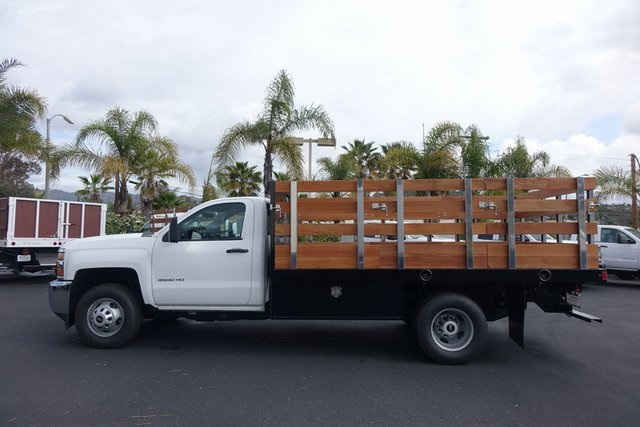 2019 Silverado 3500 Regular Cab DRW 4x2,  Harbor Black Boss Stake Bed #190619 - photo 5