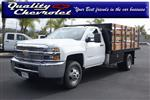 2019 Silverado 3500 Regular Cab DRW 4x2,  Harbor Black Boss Stake Bed #190619 - photo 1