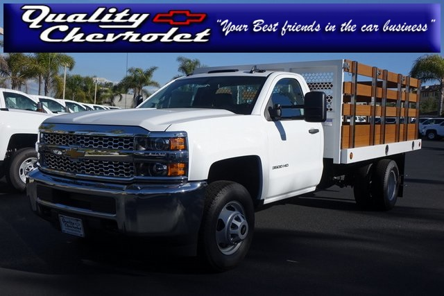 2019 Silverado 3500 Regular Cab DRW 4x2,  Royal Stake Bed #190791 - photo 1