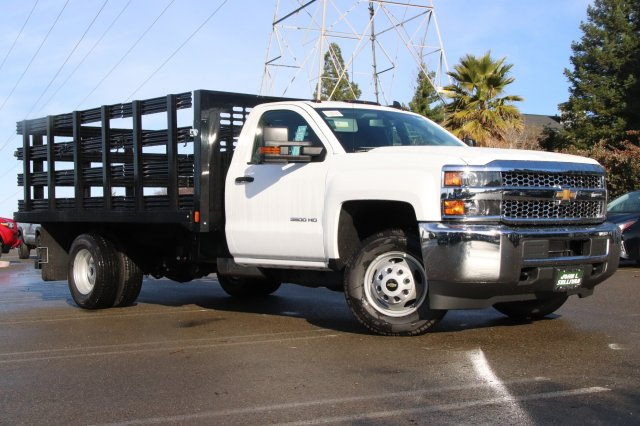 2019 Silverado 3500 Regular Cab DRW 4x2,  CM Truck Beds PL Model Stake Bed #00230010 - photo 1