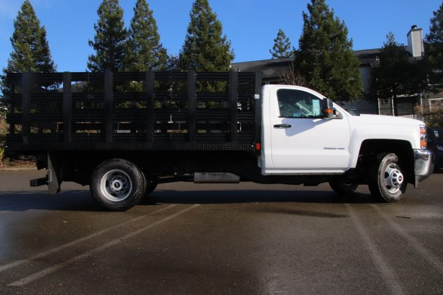 2019 Silverado 3500 Regular Cab DRW 4x2,  CM Truck Beds PL Model Stake Bed #00230010 - photo 4