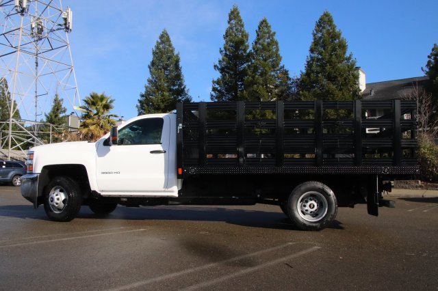 2019 Silverado 3500 Regular Cab DRW 4x2,  CM Truck Beds PL Model Stake Bed #00230010 - photo 5