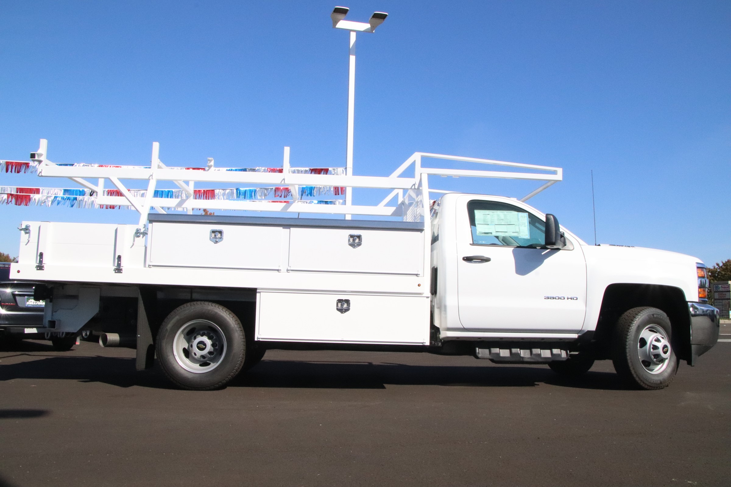 2018 Silverado 3500 Regular Cab DRW 4x2,  Harbor Standard Contractor Body #221121 - photo 5