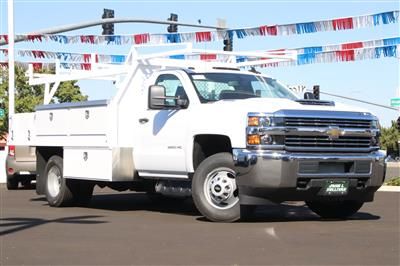 2018 Silverado 3500 Regular Cab DRW 4x2,  Harbor Standard Contractor Body #221121 - photo 1