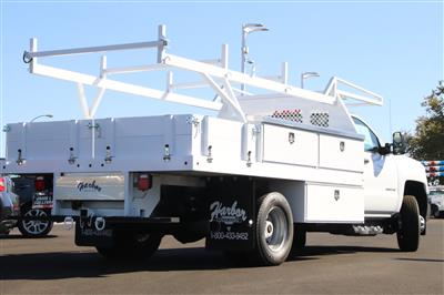 2018 Silverado 3500 Regular Cab DRW 4x2,  Harbor Standard Contractor Body #221121 - photo 2
