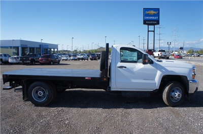 2018 Silverado 3500 Regular Cab DRW 4x4,  Freedom Rodeo Platform Body #T08674 - photo 3