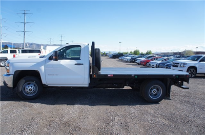 2018 Silverado 3500 Regular Cab DRW 4x4,  Freedom Rodeo Platform Body #T08674 - photo 6