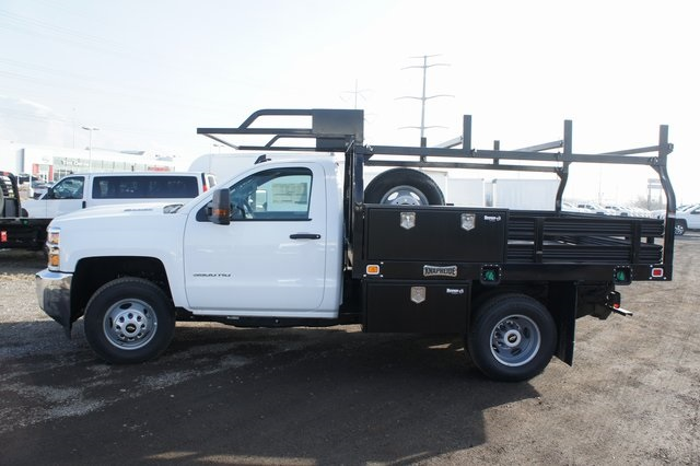2019 Silverado 3500 Regular Cab DRW 4x4,  Knapheide Value-Master X Platform Body #T09366 - photo 6