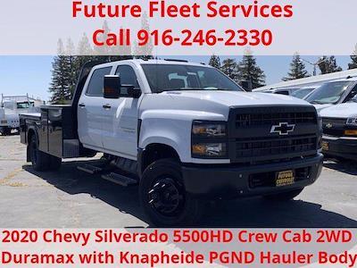 2020 Chevrolet Silverado 5500 Crew Cab DRW 4x2, Knapheide PGND Gooseneck Platform Body #C41003 - photo 1