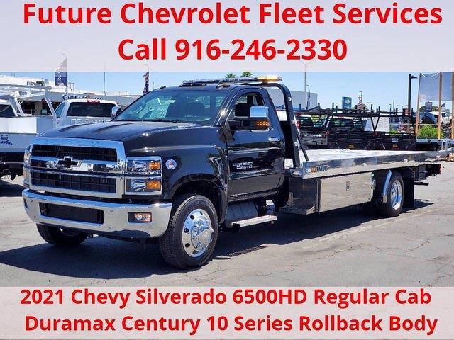2021 Chevrolet Silverado 6500 Regular Cab DRW 4x2, Miller Industries Rollback Body #C41297 - photo 1