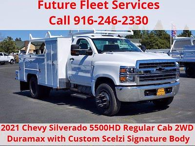 2021 Chevrolet Silverado 5500 Regular Cab DRW 4x2, Scelzi Combo Body #C41395 - photo 1