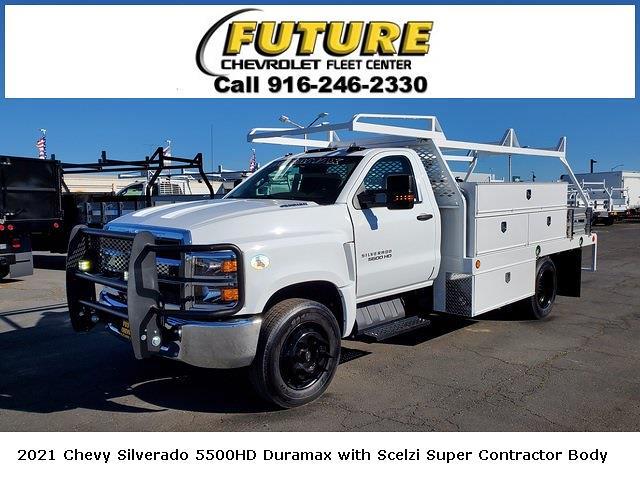 2021 Chevrolet Silverado 5500 Regular Cab DRW 4x2, Scelzi Contractor Body #C41405 - photo 1