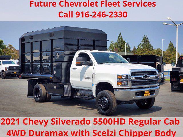 2021 Chevrolet Silverado 5500 Regular Cab DRW 4x4, Scelzi Chipper Body #CV00052 - photo 1