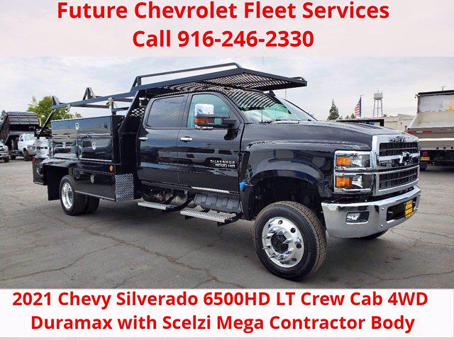 2021 Chevrolet Silverado 6500 Crew Cab DRW 4x4, Scelzi Contractor Body #CV00057 - photo 1