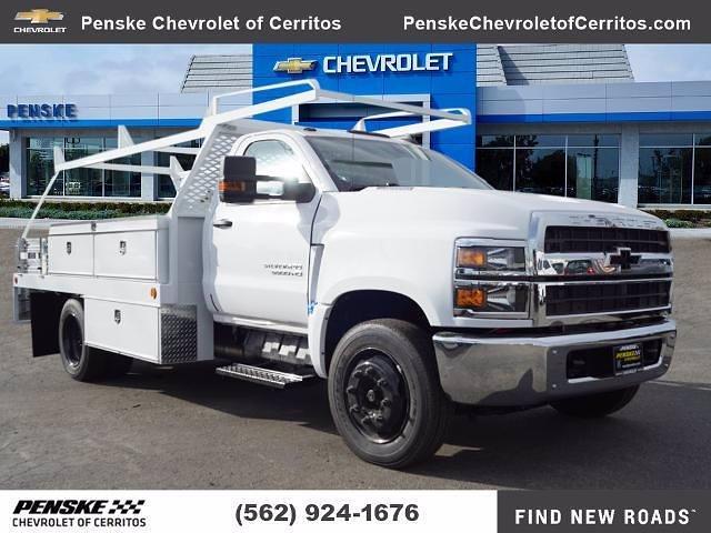 2020 Chevrolet Silverado 5500 Regular Cab DRW 4x2, Scelzi CTFB Contractor Body #LH253265 - photo 1