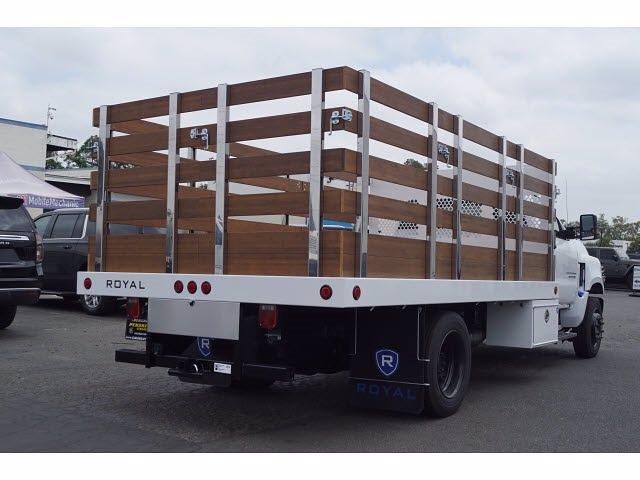 2021 Silverado 4500 Regular Cab DRW 4x2,  Royal Truck Body Platform Body Stake Bed #MH663350 - photo 2