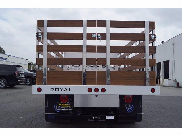 2021 Silverado 4500 Regular Cab DRW 4x2,  Royal Truck Body Platform Body Stake Bed #MH663350 - photo 6