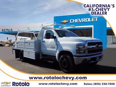 2021 Chevrolet Silverado 5500 Regular Cab DRW 4x2, Scelzi CTFB Contractor Body #212821K - photo 1