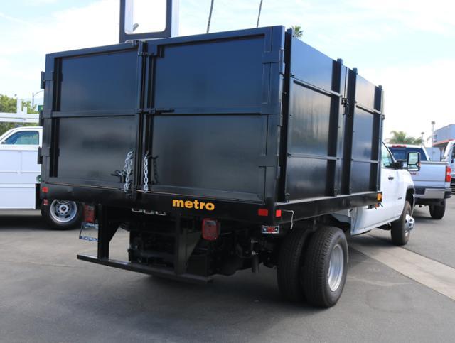 2018 Sierra 3500 Crew Cab DRW 4x2,  Metro Truck Body Landscape Dump #T46893 - photo 1