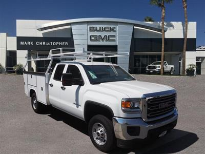 2019 Sierra 3500 Crew Cab DRW 4x4,  Harbor TradeMaster Service Body #23745 - photo 3
